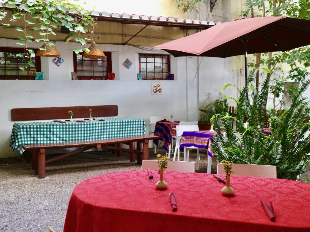 Außenbereich vom Vegetarischen Restaurant PSI