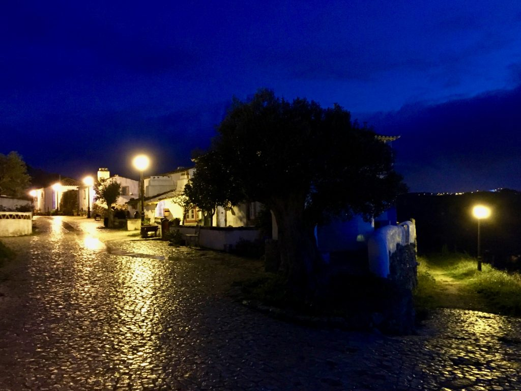 Aldeia Mata Pequena at night